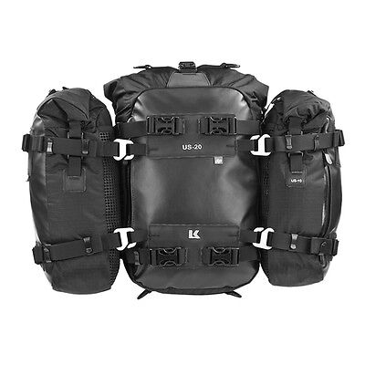 Kriega US-COMBO 40 100% waterproof, universal tailpack system for any motorcycle