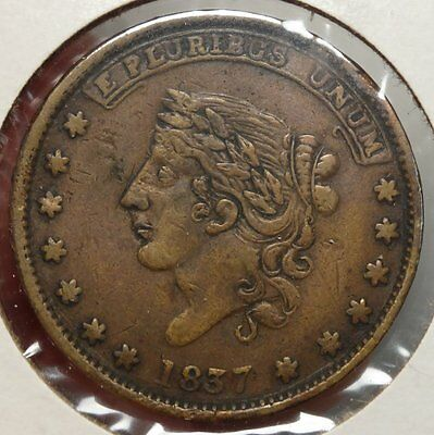 1837 Hard Times Token, Millions for Defence, Not One Cent for Tribute  0502-04