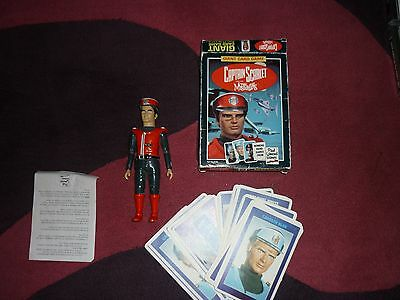 Captain Scarlet + the mysterons  Giant Card game set  + captain scarlet figure