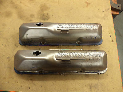 'powered By Ford' Ford V8 Engines Rocker Covers X 2! Exc Cond! Rare In Uk!