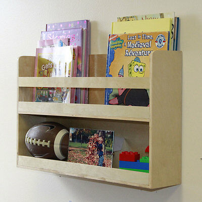 Children's Kids Room Wall Shelf Wood  Bunk Bed Nursery Room Books and Toys Org