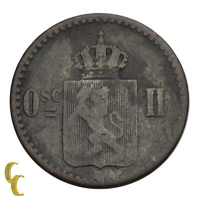 1873 Norway 3 Skilling (VF) Very Fine Condition