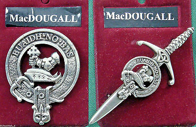 MacDougall Scottish Clan Crest Badge or Kilt Pin Ships free in US