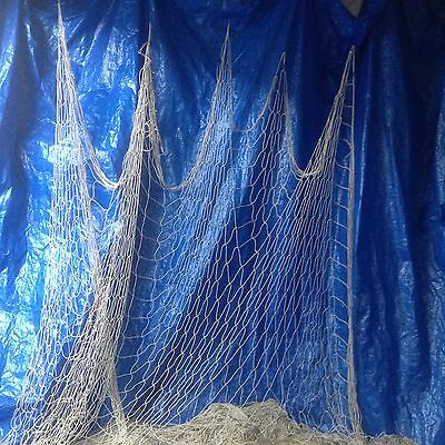 5' X 30' Decorative White/Ivory Real authentic Alaskan fishing net
