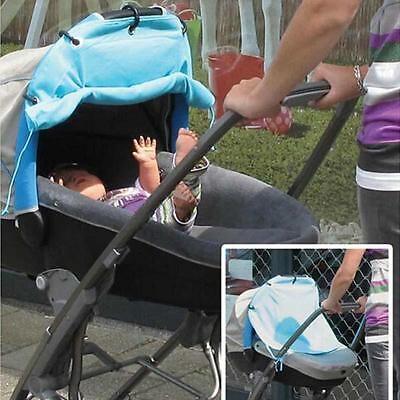 Baby Stroller Sunshield Sun Protection Ventilated Cover Rolling Sunshade Curtain