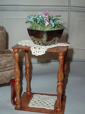 OOAK Diorama Side Table Doily +  1:4 Scale Ellowyne Tyler BJD  Tonner Hexagon