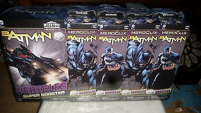 Batman Heroclix Featuring Vehicles Brick 8 Boosters + 1 Super Booster Sealed