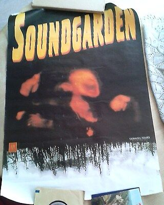Soundgarden Tour Promo Poster 1994 German Issue Blank Very Rare Full Intact