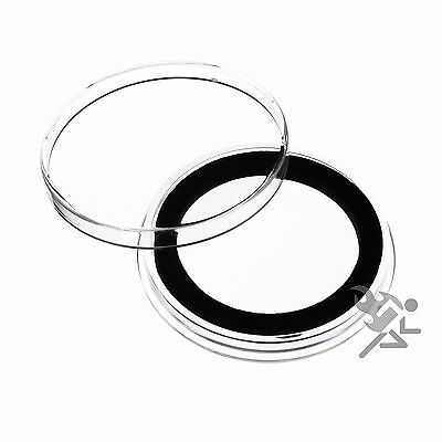 1.5oz Silver Canadian Coin Capsules, Air-Tite Holders X38mm Black Ring, 10 Pack