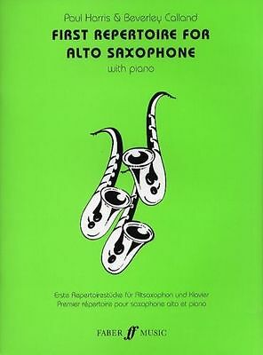 First Repertoire For Alto Saxophone with Piano By Harris & Calland