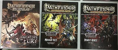 Pathfinder Rpg Book Bundle Lot Of 10 Incl Wrath Of The Righteous, Alchemy Manual