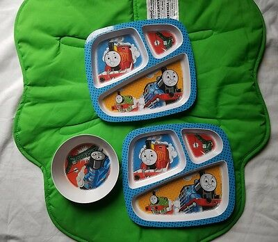 Thomas the Train Toddler Dinner Lunch Serving 2 Plate Bowl  Child's 3 Piece Set