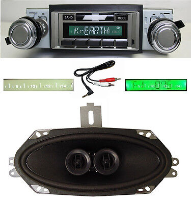 1969 Camaro Radio Play & Charge iPod 630 II Stereo + Dash Speaker  NO AC Cars