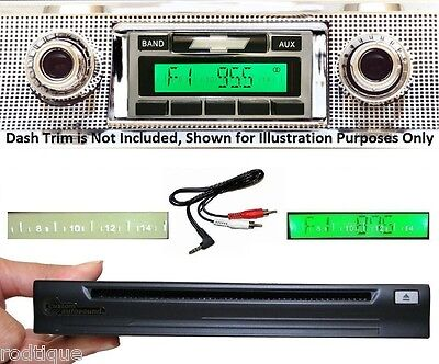 1957 Chevy Car Radio + CD Player--Play iPod w/ AUX Cable + USB Car Stereo 630 **
