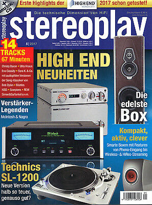 Stereoplay 5/2017 inkl. CD!Ungelesen!!Top Zustand!