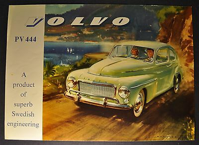 1957 Volvo PV 444 Sales Brochure Sheet Excellent Original March 57