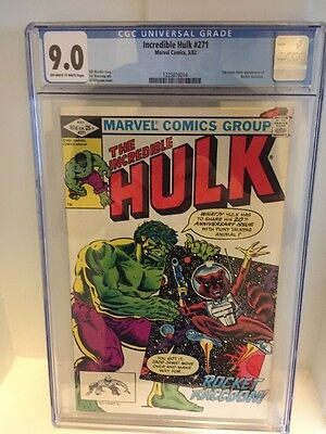 Incredible Hulk 271 - 1st Rocket Raccoon- CGC 9.0 - High Grade!
