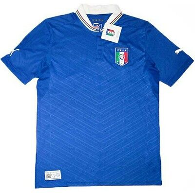 Xl Nwt Puma 2012 13 Italy Home Jersey Blue Soccer Jersey 2012 Euro Cup Jersey