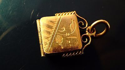 victorian Gold Filled pocket watch fob/pendant /picture locket