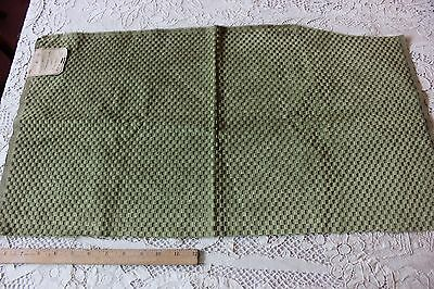 Antique French Green Cut Silk Velvet Sample Fabric Textile c1870~Dolls