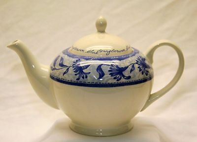 Blue Willow Churchill / England China Vintage Large Rear Teapot 10""