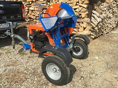NEW Balfor engine driven trailer mounted cordwood buzz saw