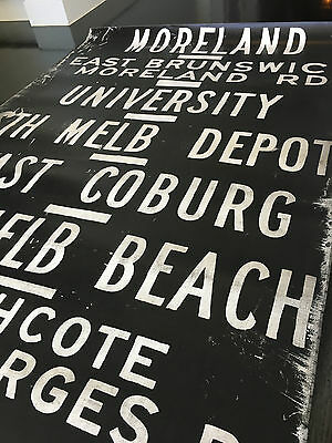 Original Melbourne Tram Scroll #1 4.2m x 1m Iconic destinations