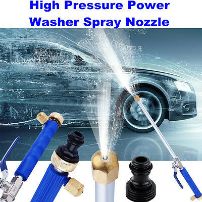 High Pressure Power Washer Spray Nozzle Water Hose Wand Attachment FREE
