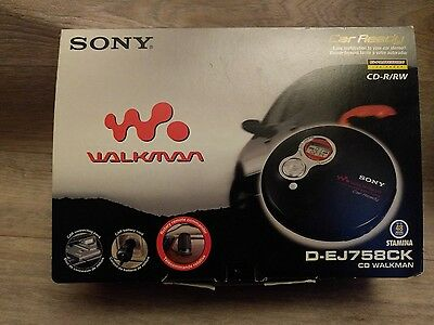 Sony CD Walkman Portable CD Player Car Ready D-EJ758CK complete