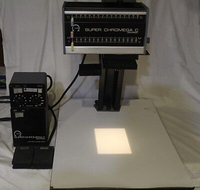 Omega Super Chromega C Dichroic Enlarger, Power Supply, Timer & 35mm Tray! See!
