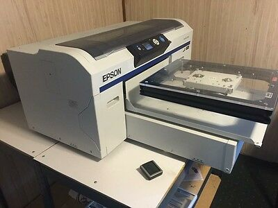 Epson Sure Color F2000, Speed Treater TX, Geo Knight Clam Shell Heat Press & Ect