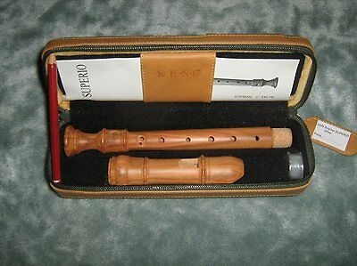 Kung Superio Descant Recorder in Olive Wood - KS2309