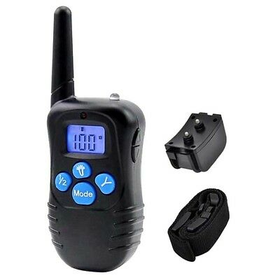 Pet Train Waterproof Rechargeable LCD Electric Remote Dog Training Shock Collar