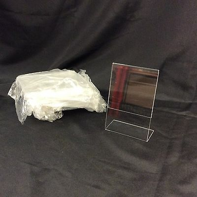 "12 Pack of 4""x6"" Acrylic Picture Frames Sign Holders 4""x 6"" Vertical"