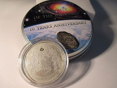 Cook Islands 5$ Apollo Mond Meteorit Moon Meteorite Luna 3 2009 Silber