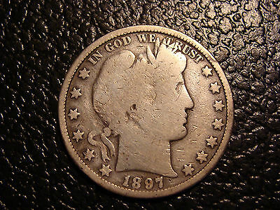 Key Date 1897-O Barber Half Dollar Nearly VG WE COMBINE ON SHIPPING