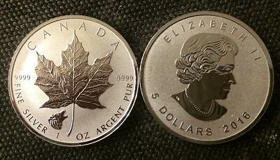 2016 - Wolf Privy Maple Leaf Reverse Proof 1 Oz .9999 Silver Coin