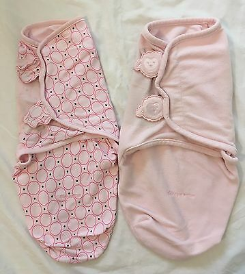 2 x GUC 'Kiddopotamus' Baby Swaddle Wrap Sleeping Bag. SMALL