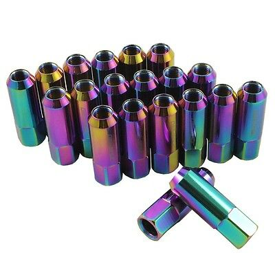 20Pc Neo Chrome Jdmspeed Forged Aluminum Tuner Racing Lug Nut For Ford Mustang
