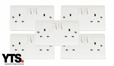 5 x Scolmore Click Mode 13A Double Socket
