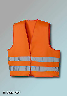 teXXor High visibility vest Safety warning vest gem EN 471 orange bright orange
