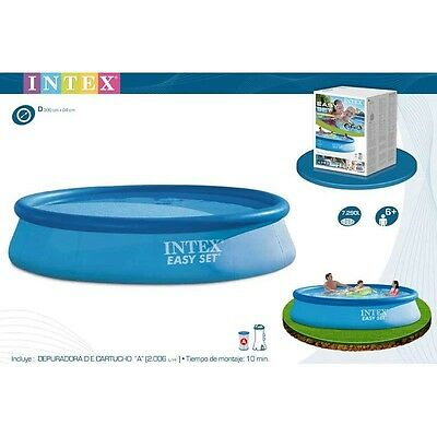 Intex - PISCINA EASY SET 396X84 CM CON DEPURADOR