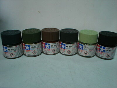 Tamiya Acrylic Paint - Set E - 6 Colori