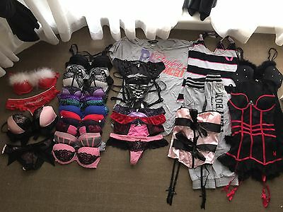 Playboy Lingerie Bulk-Bras/undies/ Clothing/corsets *all Items Are Second Hand*