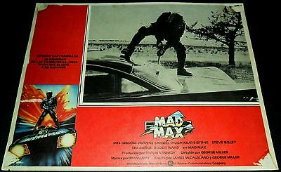 1979 Mad Max ORIGINAL MEXICAN LOBBY CARD Mel Gibson POST APOCALYPTIC