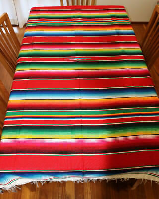 Mexican Sarape, Red, Hot Rod, Blanket, Rug, Picnic, Throw, Yoga mat, Table cloth