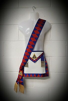Royal Arch, Chapter, Provincial LAMBSKIN Apron and sash set