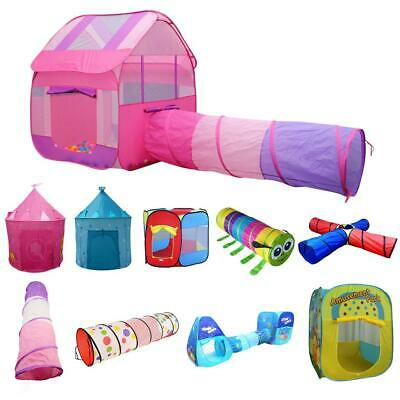 Portable Kids Indoor Outdoor Pop Up Playhouse Tunnel Tent Ball Pit Play Fun Toy