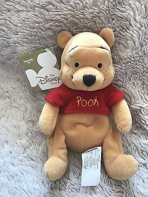 """NWT New Pooh Winnie The Pooh Beanie Soft Toy 8"""" Store Exclusive"""