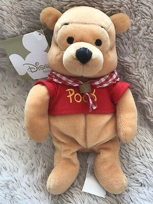 "NWT Disney Camping Pooh Winnie The Pooh Beanie Soft Toy 8"" Store Exclusive"